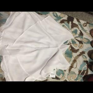 White blouse sleeveless